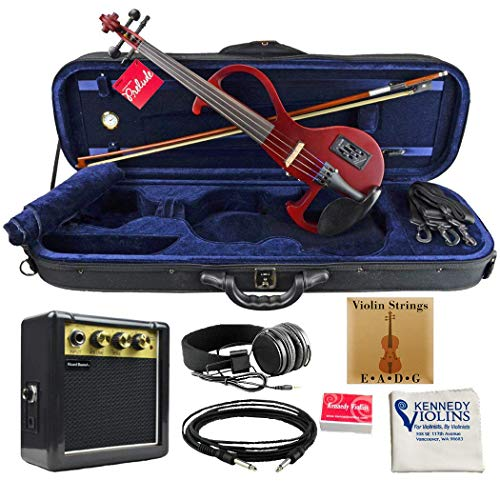 Bunnel EDGE Clearance Electric Violin Outfit Rock Star Red Amp Included ()