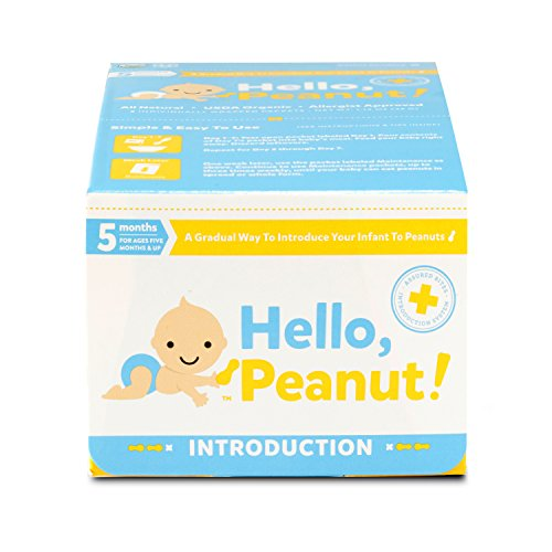 Hello, Peanut! Introduction System for A Gradual Way to Introduce Your Infant to Peanuts, 7 Day System, Allergist Approved, All Natural, USDA Organic, Simple to Use (8 Packets) (Best Way To Introduce Baby Food)