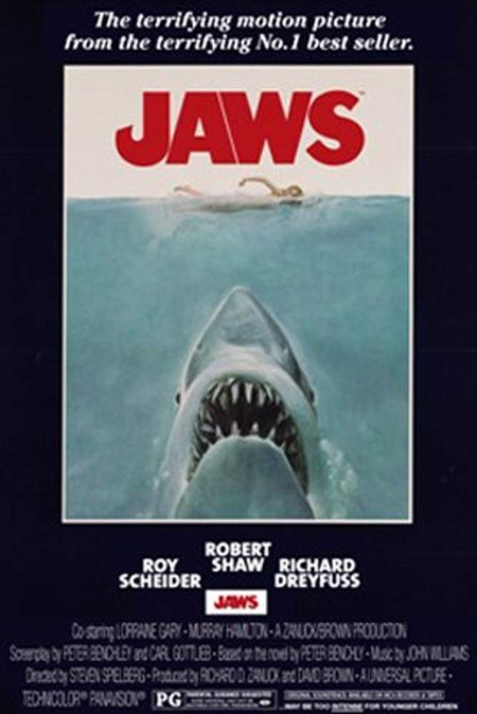 Frame USA Laminated Jaws Movie Shark Poster Print 24x36