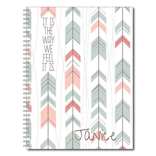 A Way of Life Inspirational Personalized Spiral Notebook/Journal, 120 Wide Ruled or Checklist Pages, durable laminated cover, and wire-o spiral. 8.5x11 | 5.5x8.5 | Made in the USA