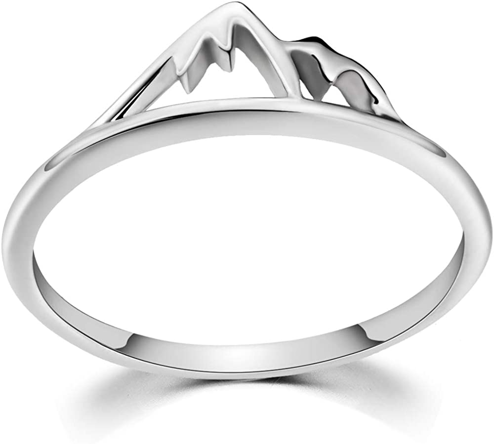 Jude Jewelers Stainless Steel Mountain Design Statement Promise Biker Party Ring