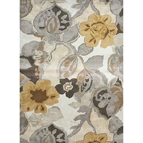 (Jaipur Living Petal Pusher Hand-Tufted Floral & Leaves White Area Rug (9' X 12'))