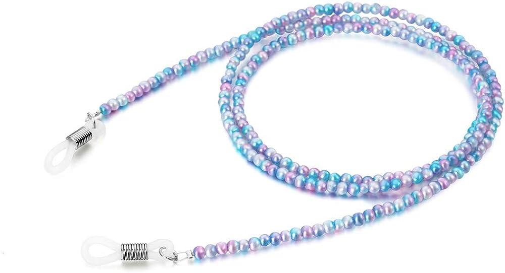 Awro Womens Eyeglass Chain Purple Bead Eyeglass Strap Sunglasses Lanyard Beaded
