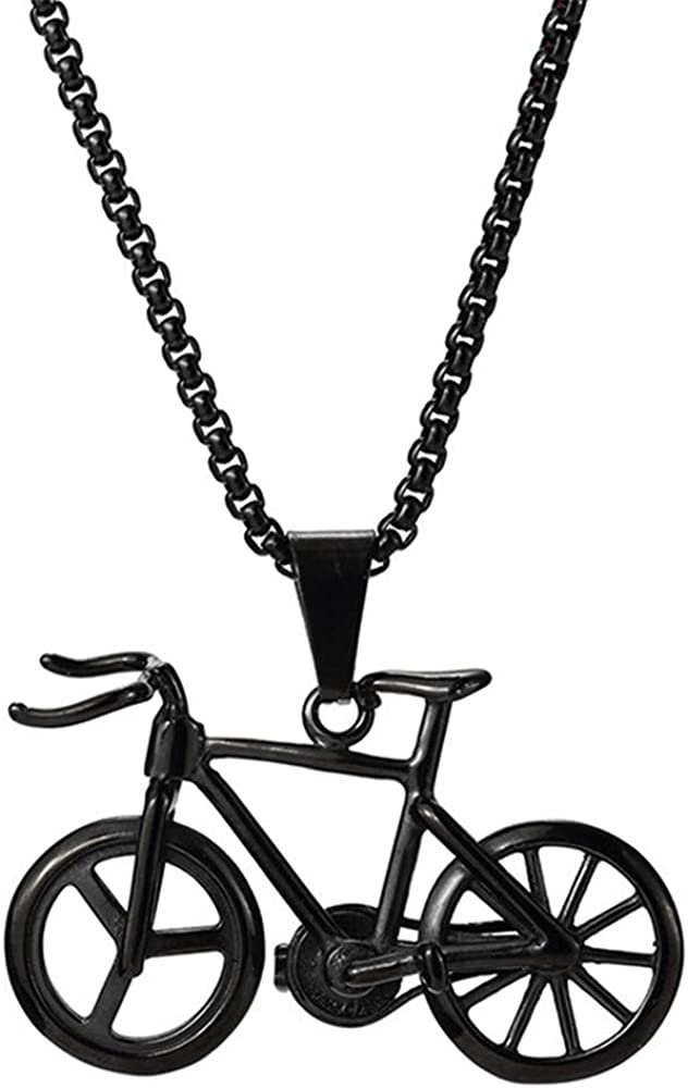 IVERIRMIN Colgante De Bicicleta De Titanio De Acero Hip Hop Pareja ...