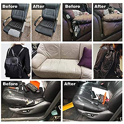 Leather Repair Patch Kits for Car Seats Couches and Elbow Self-Adhesive Patch for Leather and Vinyl Repair, 5.7×38 inch Leather Sofa Repair Kits