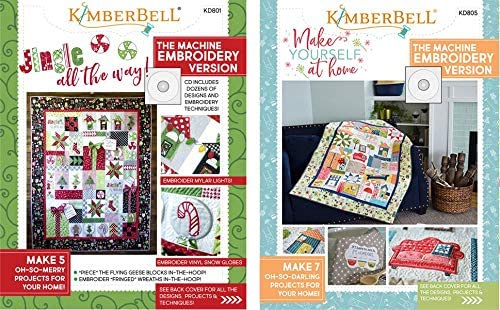 Machine Embroidery CD /& Sewing Book KD801 KIMBERBELL Jingle All The Way