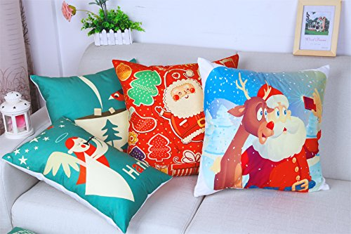 [Artistdecor 16 X 16 Inches / 40 By 40 Cm Christmas Pillow Covers ,double Sides Ornament And Gift To Divan,family,play] (Diy Woman Wolf Costume)