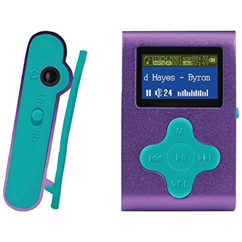 Eclipse Fit Clip 4GB MP3 Player - Purple/Teal (Mp3 Fit Player)