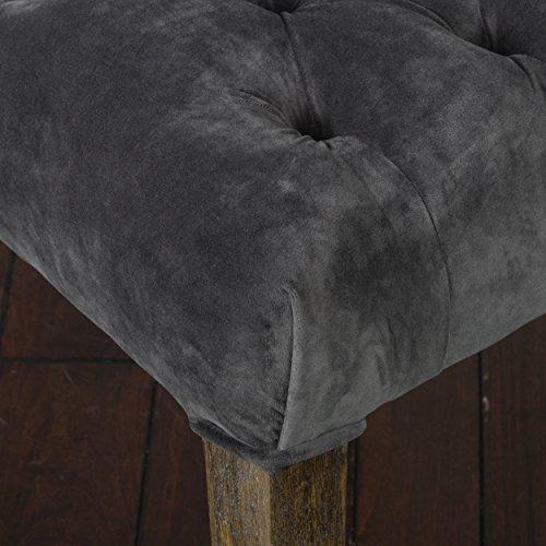 Great Deal Furniture (Set of 2) Myrtle Velvet Charcoal Dining Chair by Great Deal Furniture (Image #3)