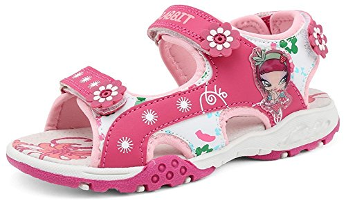 PET WITH ME Fashion Girls Mignon 2 Straps Hook and Loop Sandals Rose13.5 M US Little Kid Hot Sell.