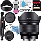 Sony E 10-18mm f/4 OSS Lens SEL1018 + 62mm 3 Piece Filter Kit + 62mm Macro Close Up Kit + 256GB SDXC Card + Lens Pen Cleaner + Fibercloth + Lens Capkeeper + Deluxe Cleaning Kit Bundle