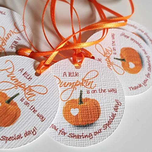 A Little Pumpkin is on the way Baby Shower Tags - Baby Shower favor tags - Little Pumpkin Favors Tags - Set of 40 tags]()