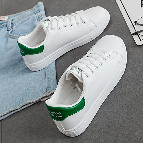 Small Hong Street Zapatos Beat Verde Plate White uk5 color Tamaño cn38 Eu38 5 Acogedor Negro Kong Ocio Style Lvzaixi Shoes EwFI00