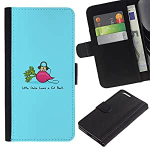 JackGot ( Divertido remolacha Grasa ) Apple (5.5 inches!!!) iPhone 6+ Plus / 6S+ Plus la tarjeta de Crédito Slots PU Funda de cuero Monedero caso cubierta de piel
