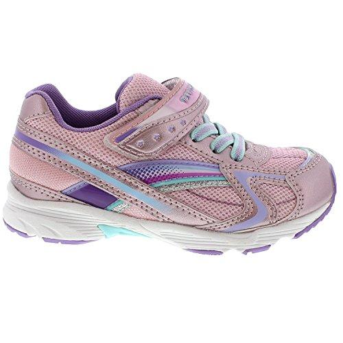 Image of Tsukihoshi Kids Baby Girl's Glitz (Toddler/Little Kid) Rose/Lavender Athletic Shoe