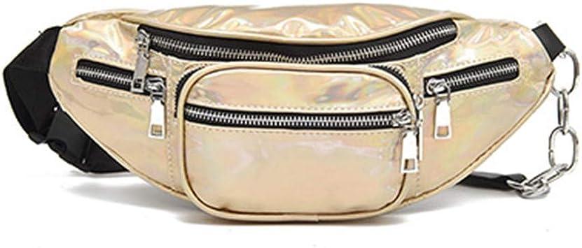 HAOLIEQUAN Bolsas De Cadena Fanny Pack Waist Women Belt Bag Hombres Billetera De Moda PU Leather Belt Bag Waist Pack Bolsas De Carteras para Mujeres, C: Amazon.es: Deportes y aire libre
