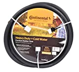 "Continental ContiTech Black Rubber Heavy Duty Garden Hose, 5/8"" ID x 50' Length"