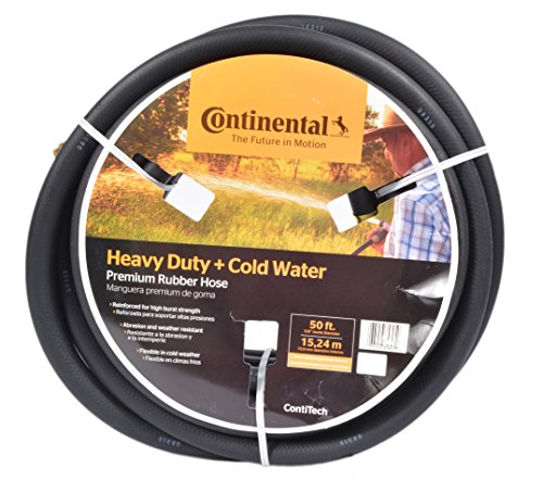 Continental ContiTech Black Rubber Heavy Duty Garden Hose, 5/8