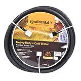 "Continental ContiTech Black Rubber Heavy Duty Garden Hose, 5/8"" ID x 50' Length"