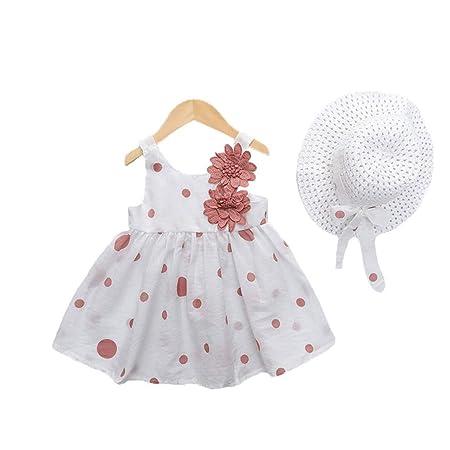 FHYER Ropa de bebé Vestido de Falda de niña con Sombrero, Ropa ...