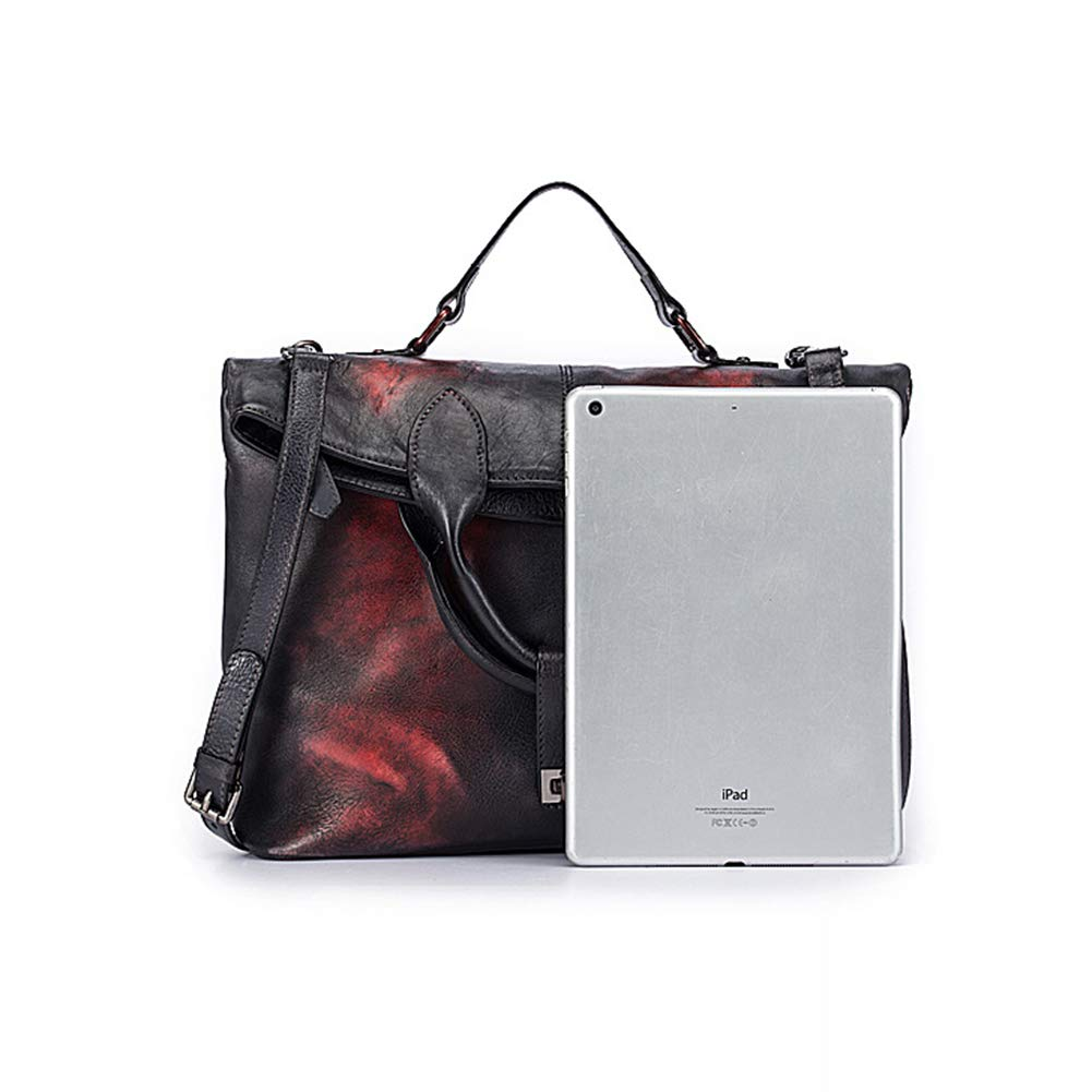 Qzny Briefcase Attache Case Laptop Bag Fashion Retro Style Big Bag Tote Bag Briefcase Handle Messenger Bag,c,342615cm