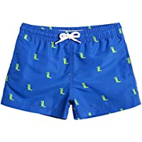 MaaMgic Boys Kids Cute Short Swim Trunks Boardshorts Quick Dry Swim Suit with Drawstring