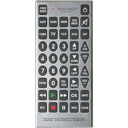 Amazon Innovage 569976 Jumbo Universal Remote Home Audio Theater