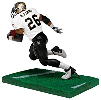 c8f8570063b Amazon.com: McFarlane Toys NFL Sports Picks Series 6 Action Figure Deuce  McAllister (New Orleans Saints) White Jersey with Eye Black: Toys & Games