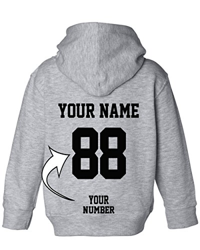 (Custom Toddler Hoodies - Design Your OWN Jersey - Pullover Hooded Team Sweaters)