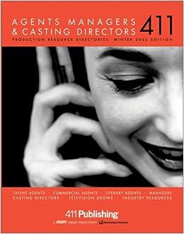 Agents, Managers and Casting Directors 411 Vol 3