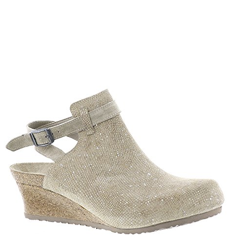 Birkenstock Womens Esra Clog Silver Splashes Mud Size 39 N EU (8-8.5 N US Women) by Birkenstock