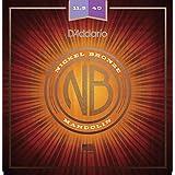 D'Addario NBM11540 Nickel Bronze Mandolin Strings, Light, 11.5-40
