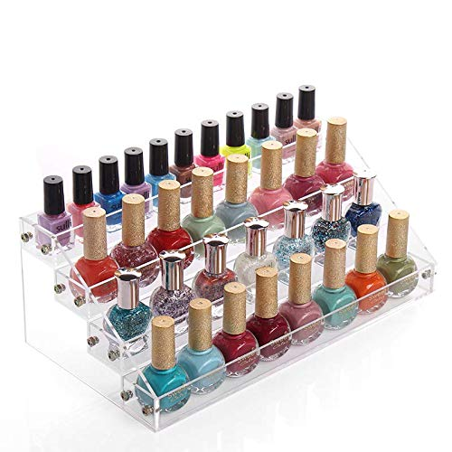 Amazon.com: Sooyee Acrylic 3 Layer Nail Polish Rack
