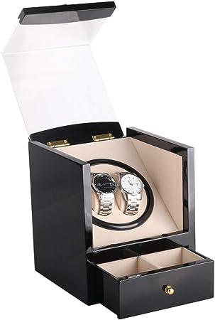 Ouuager-Home Organizador de Pantallas de Reloj Caja de Reloj de Madera automática Mira enrollador for 4 Relojes con la Caja de Almacenamiento silencioso del Motor con la Almohadilla Suave Flexible: Amazon.es: Hogar