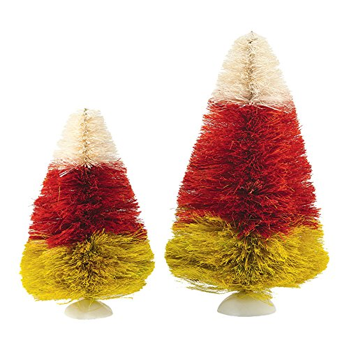 Department 56 Village Halloween Candy Corn Trees, 8.47