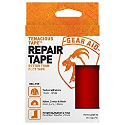 McNett Tenacious Repair Tape Clean Adhesive Outdoor All Purpose Gear - Red