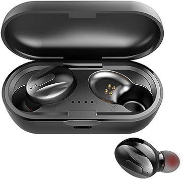 Auriculares Inalámbricos Bluetooth 5.0, Bluetooth Deportivos In-Ear Auriculares Carga Rapida, 3D estéreo Mini Impermeable Auriculares Inalámbricos con Caja de Carga Portátil para iPhone y Android: Amazon.es: Electrónica