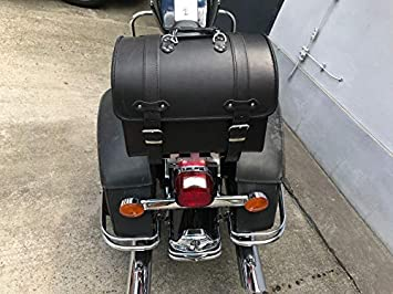 ORLETANOS Devil Black Gep/äckkoffer kompatibel mit Harley Davidson XS Sissybar Koffer Rolle Roller Vespa Moped Motorrad HD Lederkoffer Gep/äcktr/äger Heckkoffer Chopper Custom schwarz