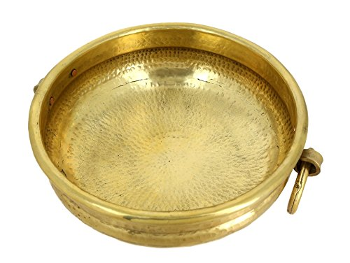 - Handmade Brass Urli - 6 by 14 Inch Uruli Bowl - Suitable for Decorating, Offerings & Even Serving Food - Artisan Crafted in India
