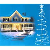 Set of 2 Pre-lit Cool White LED Spiral Christmas Tree Outdoor Decorations 3', 4'