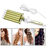 inkint Electric Titanium Curling Iron Curling Wand Professional Hair Styling Tools for Long Hair Ceramic Curler Barrel Curlers for Hair Harmless Iron Curler with Triple Temperature Choices & World Wide Voltage for Traveling