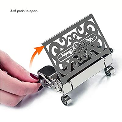 3D Metal Model Puzzle for Adults - Metal Perfecto Card Case with Opening Mechanism   Metal DIY Kit   Beautiful Metal Card Case Collectible   DIY Construction Vintage Model: Toys & Games