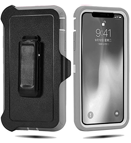 innovative design 297ee ef074 Defender Case for iPhone XS Max 6.5 Inch,[NO Screen Protector][Heavy  Duty][Drop Protection] Tough Rugged Case for iPhone XS Max 6.5 Inch (2018  ...