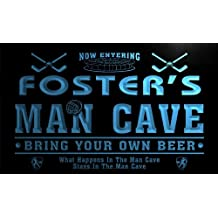 qe883-b Foster's Man Cave Hockey Bar Beer Neon Sign