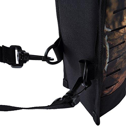Gazechimp Outdoor Bogenschießen Köcher Tasche, Jagd Pfeil Halter Training Pfeilköcher mit verstellbaren Schulterriemen