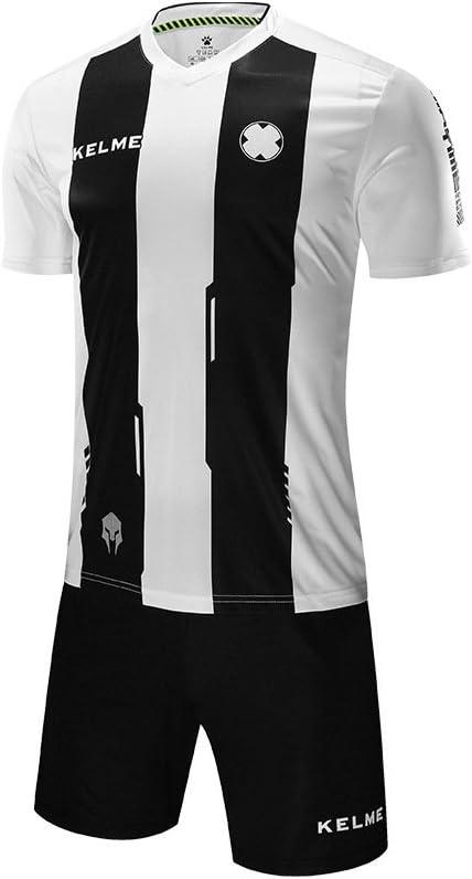 Kelme - Camiseta y pantalones cortos de fútbol para hombre, color blanco/negro, tamaño extra-small: Amazon.es: Ropa y accesorios