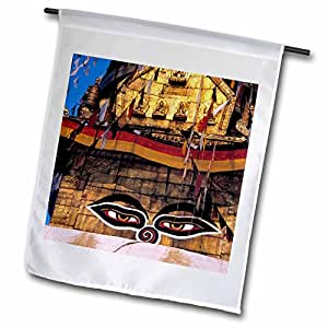 Danita Delimont - Temples - Nepal, Kathmandu Valley. Swayambunath, temple-AS26 RER0050 - Ric Ergenbright - 12 x 18 inch Garden Flag (fl_75471_1)