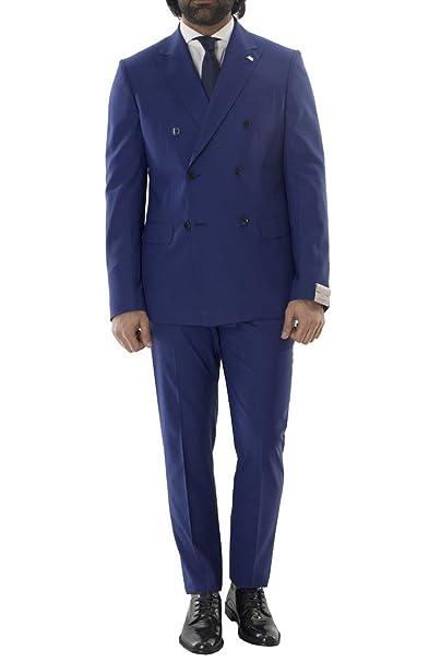 Abito da Uomo Estivo Elegante in Fresco Lana Modello Doppiopetto Fantasia Principe  di Galles Tono su Tono vestibilità Slim Fit a31aa349e59
