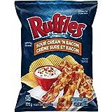Lays Ruffles Sour Cream & Bacon Potato Chips, Large