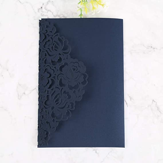 Amazon.com: Doris Home invitaciones de boda con sobres para ...